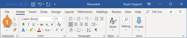 باز کردن سند در ورد - نحوه باز کردن یک  فایل